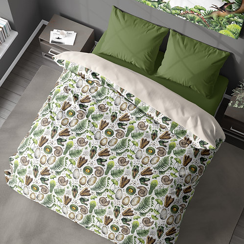 Personalized duvet cover - Dinosaur fossils