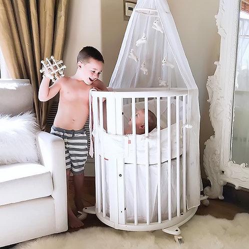 Oval bassinet bumper - Pure white