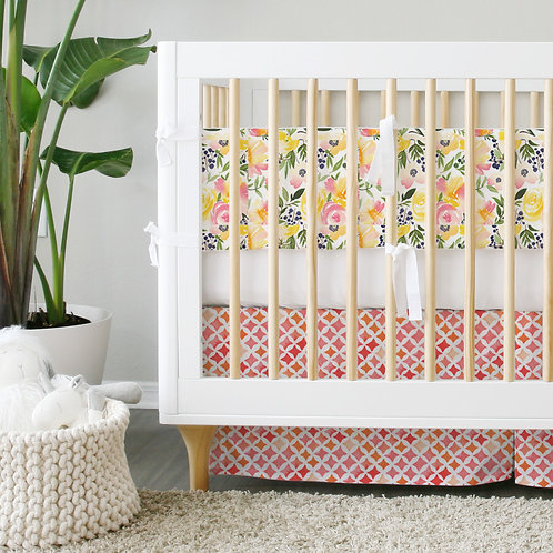 Crib 3pc set - Organic Watercolor