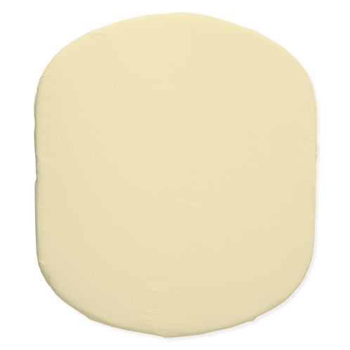 Hula bassinet fitted sheet - gray & yellow