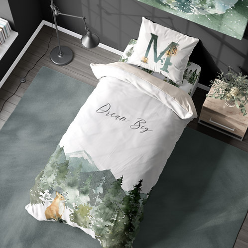 Personalized duvet cover - enchanted woodland