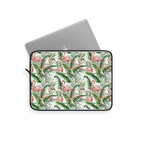Laptop Sleeve - Flamingo palm