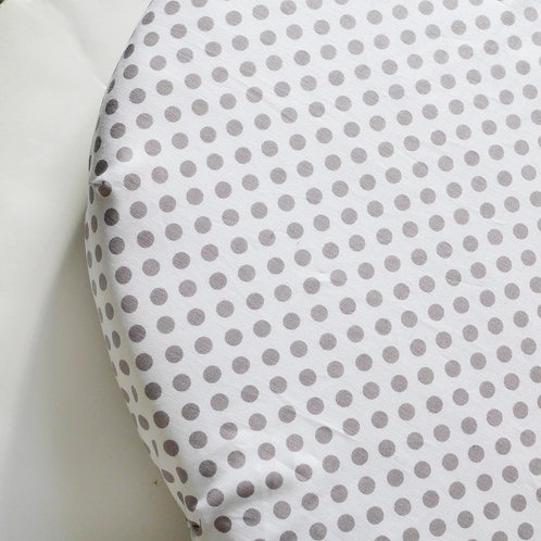 Oval fitted sheet - polkadots