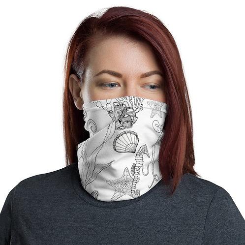 Multifunctional Face Mask - ocean black & white