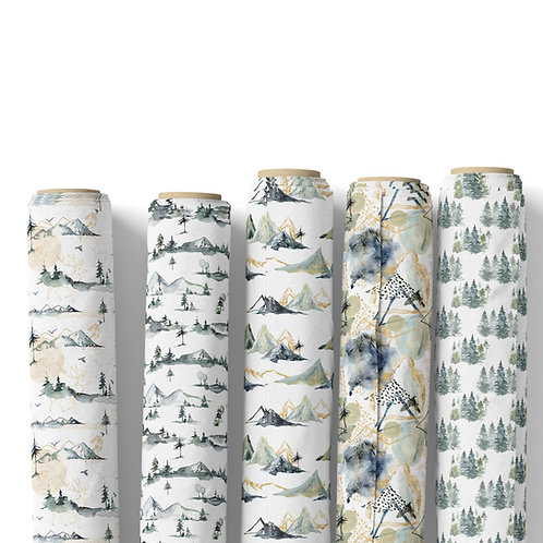 Fabric by the yard - enchanted forest