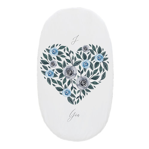 Personalized oval fitted sheet - I Love you