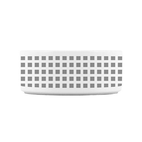 Personalized Pet bowl - Gray squares