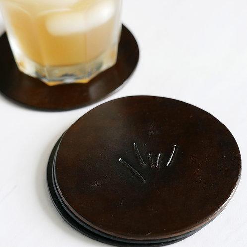 Mindful Coasters Leather - Chocolate