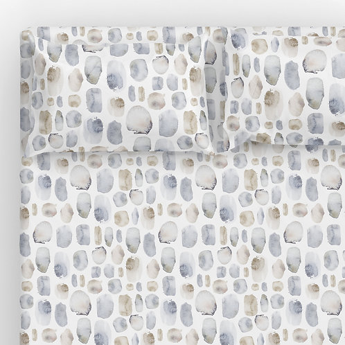 Italian cotton Sheet Set - Iceland pebbles