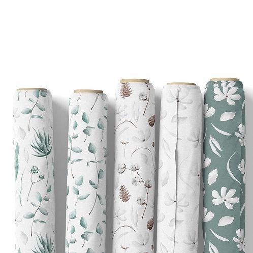 Fabric by the yard - Botanical