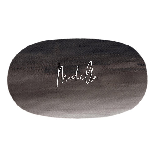 Personalized oval fitted sheet - fine art gradient