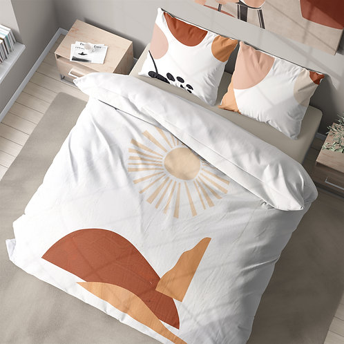 Personalized duvet cover - modern abstract sun