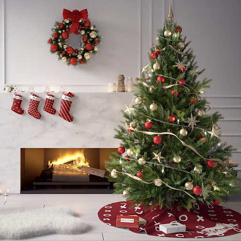 Christmas Tree Skirt - Any pattern ~ Any Color