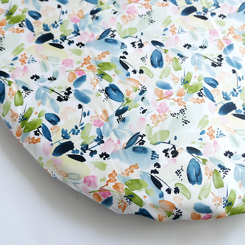 Hula bassinet sheet - Organic Watercolor