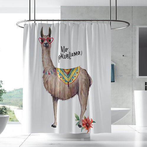 Shower Curtain - No Probllama