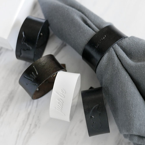 Mindful Napkin Rings Leather