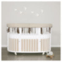 neutral pinstripes baby bedding