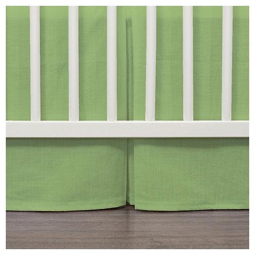 crib skirt - green