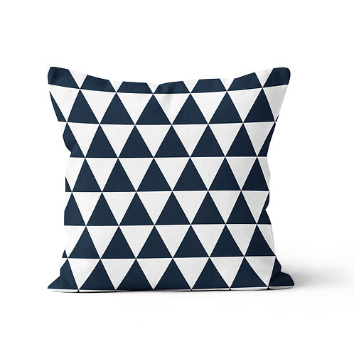 Throw Pillow - Geometric triangles pattern