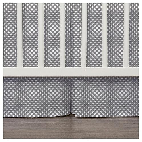 crib skirt - gray