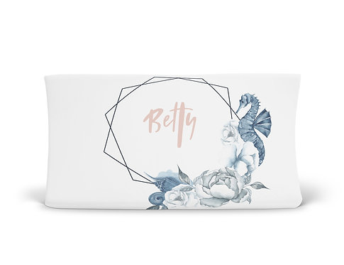 Personalized Changing Pad - Mermaid Seahorse