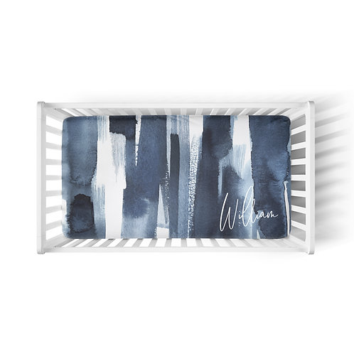 Personalized crib fitted sheet - Neptune gradient