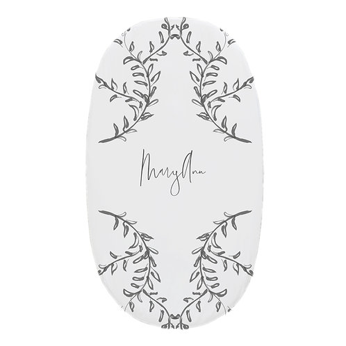 Personalized oval fitted sheet - fine art II