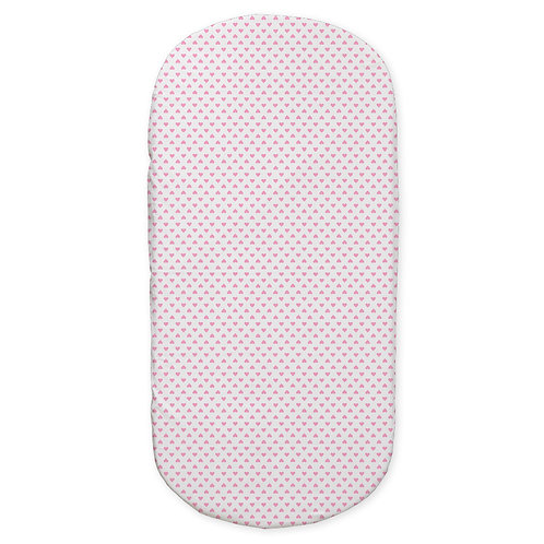 oval crib fitted sheet - love