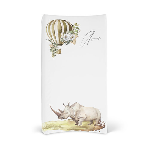 Personalized Changing Pad - Safari Rhino