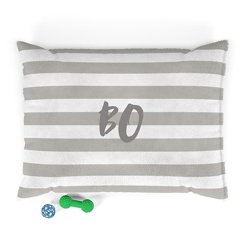 Personalized Pet bed - Neutral stripes