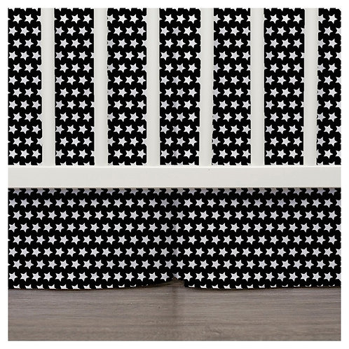 crib skirt - black & white