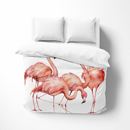 Personalized comforter - Flamingo Flock