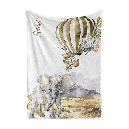 Personalized light blanket - Elephant