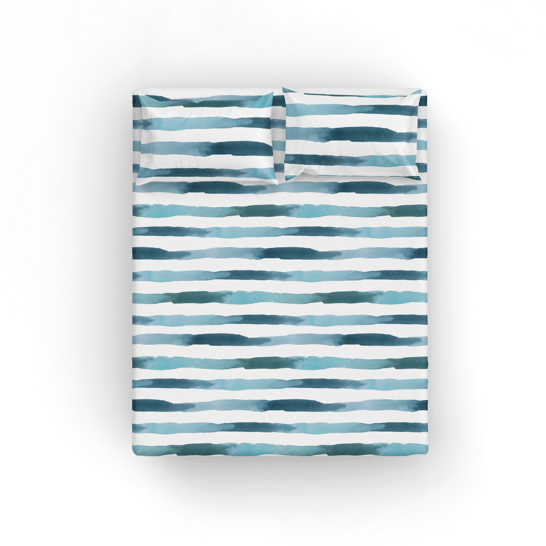 Queen sheet set-ocean stripes.jpg