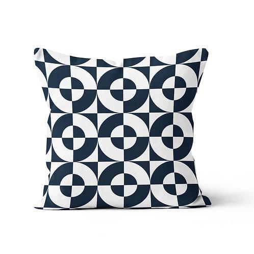 Throw Pillow - Geometric circles pattern