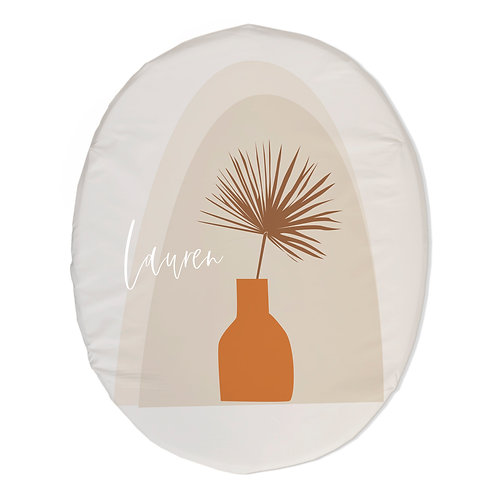 Personalized oval fitted sheet - modern abstract vase