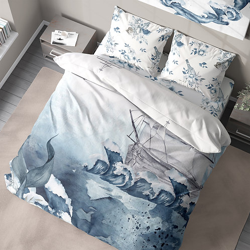 Personalized duvet cover - Sailing Ship