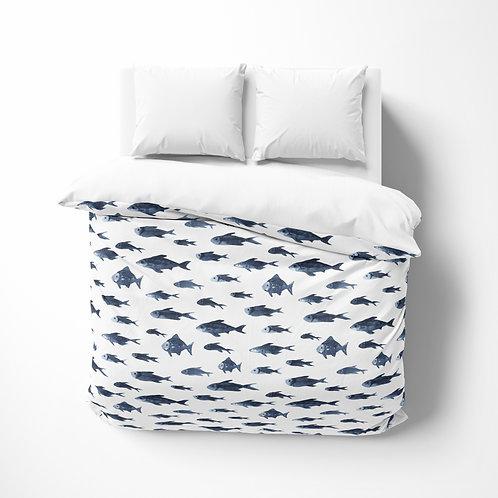 Personalized comforter - Fish School
