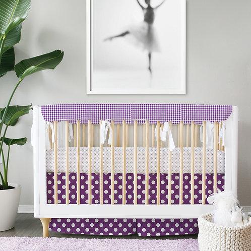 Crib 3pc set - lavender