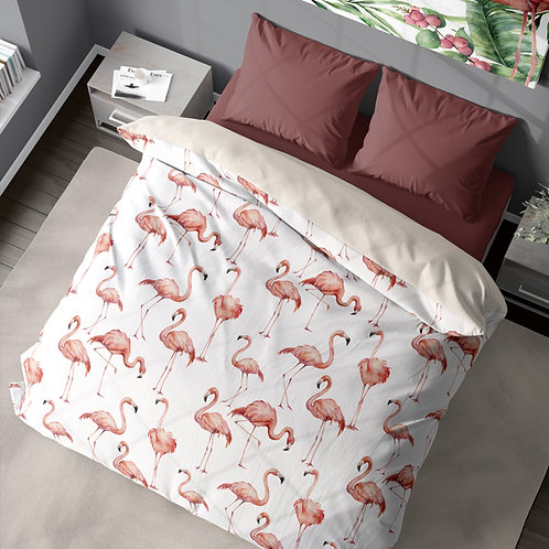 Personalized duvet cover - Flamingo