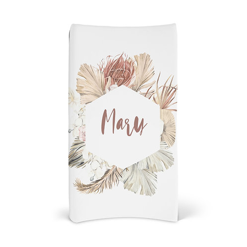 Personalized Changing Pad - Floral wreath