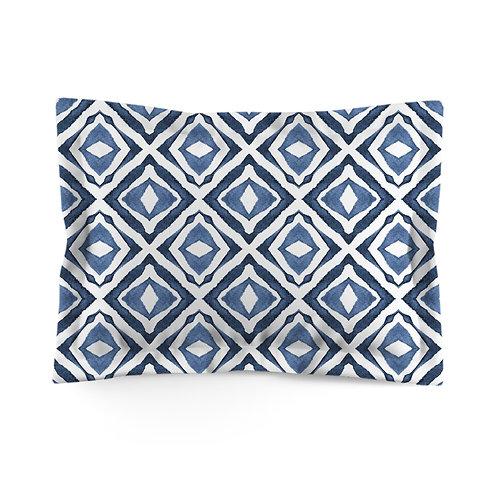 Flanged pillowcase - Indigo patterns