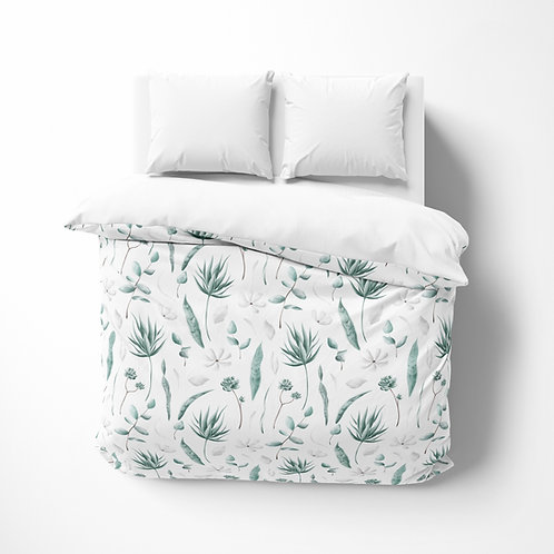 Personalized comforter - Botanical Eucalyptus Flowers