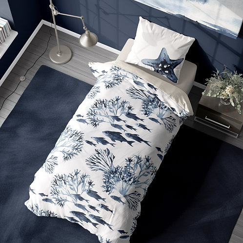 Personalized duvet cover - Neptune Coral Reef