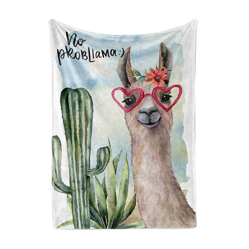 Personalized light blanket - no probllama