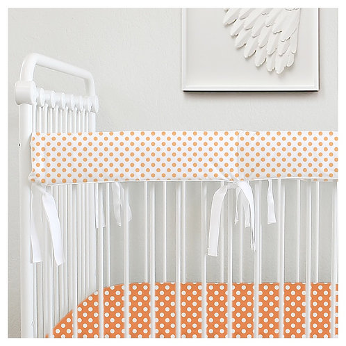 Bumperless teething rail guard - orange