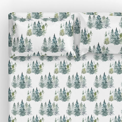 Italian cotton Sheet Set - Enchanted forest