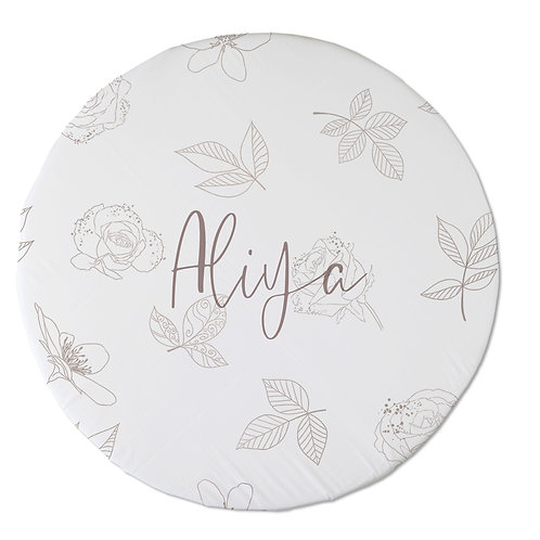 Personalized oval fitted sheet - royal ballet line art