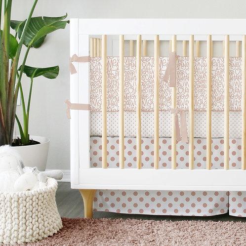 Crib 3pc set - Rose Gold