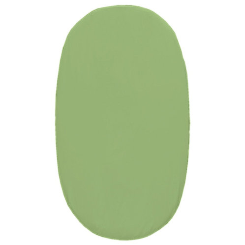 Oval crib fitted sheet - green